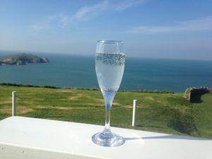 Prosecco on sun Terrace, Silks Bistro & Champagne Bar