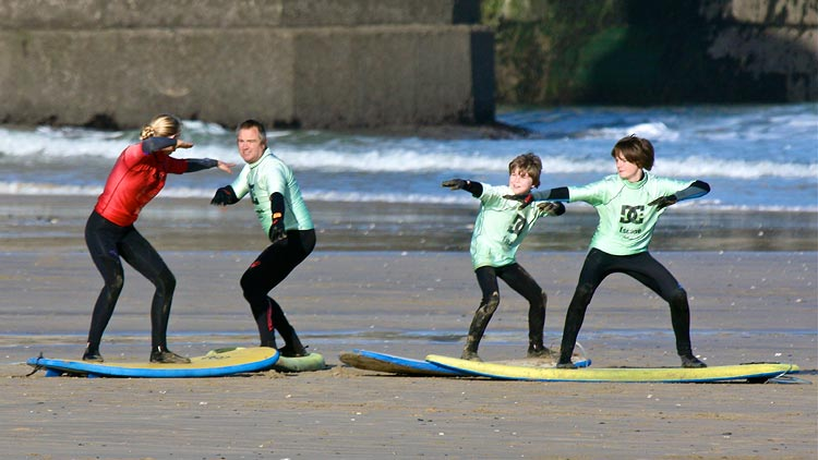 escape family surf newquay
