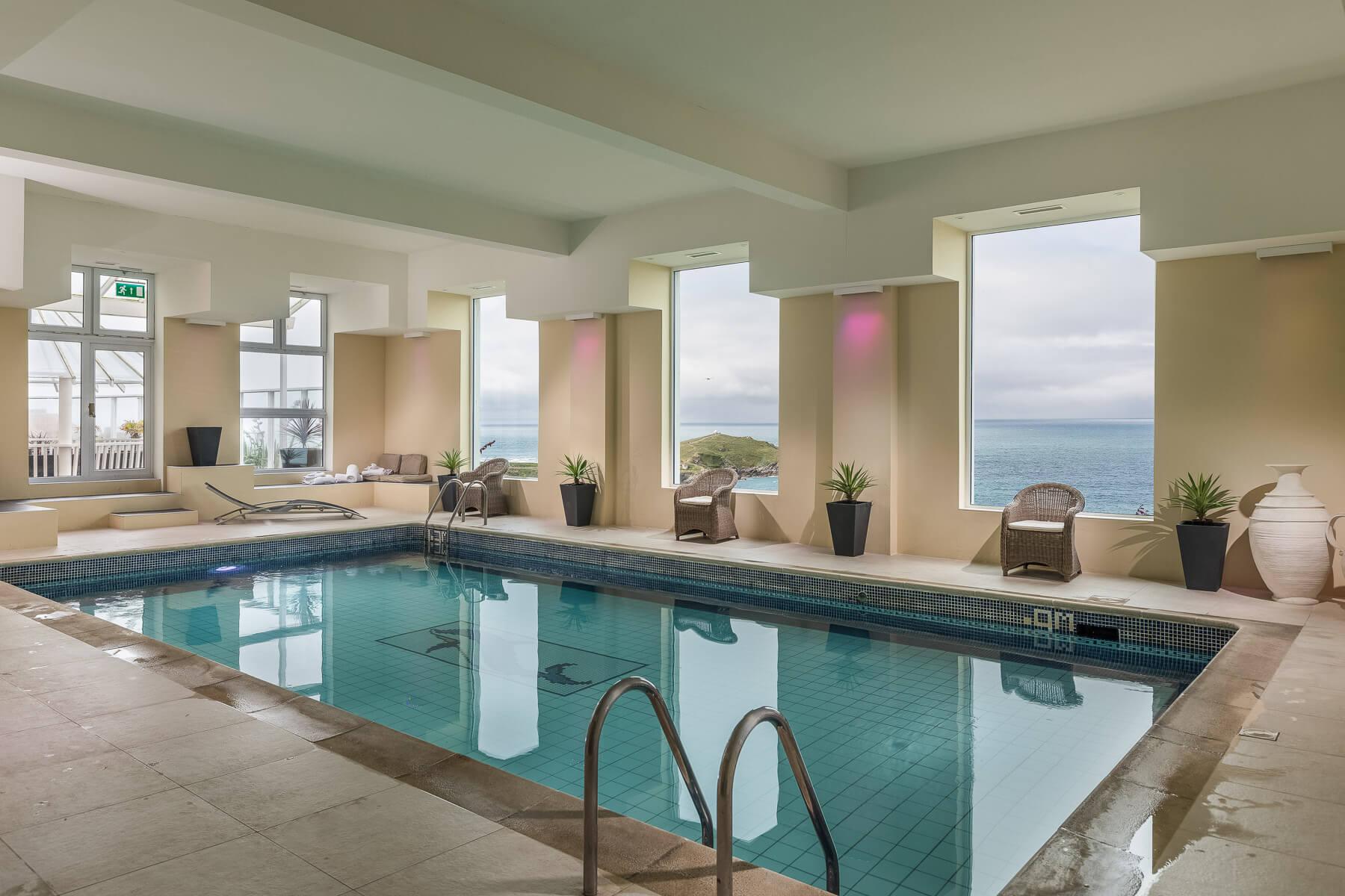 indoor seaview pool, Newquay
