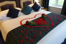 rose petals on bed, valentine's atlantic hotel newquay