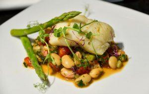 locally sourced fish dish silks bistro