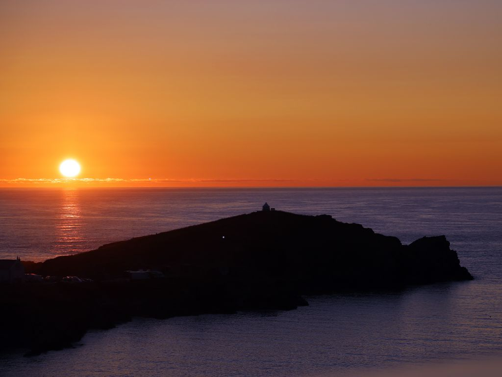 Newquay Sunset from Atlantic Hotel