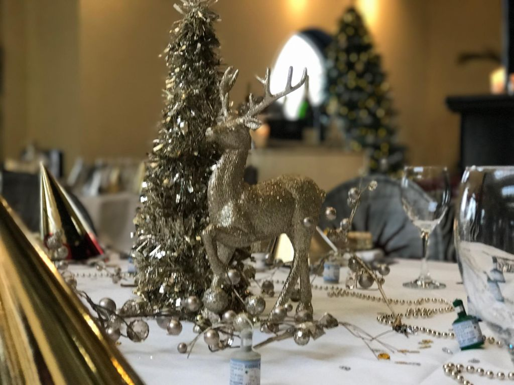 Festive table Silks Bistro & Champagne Bar