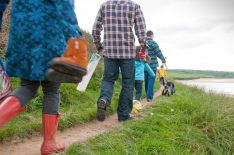 family walk to beach matt jessop